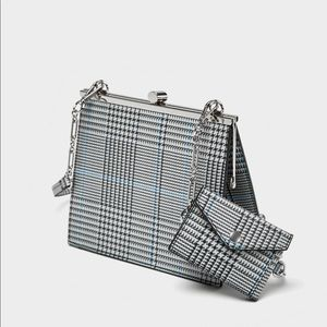 ZARA new! Checked crossbody bag